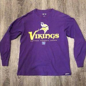 Minnesota Vikings Long Sleeve Shirt M